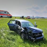 Unfall-St2008-Seeg-Legenwang-PKW-gegen-Traktor-4-Verletzte- Ostallgäu-Bringezu-Rettungshubschrauber (57)_tonemapped