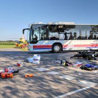 Unfall Rammingen MN23 Motorrad Bus PKW 4