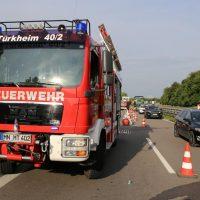 19.07.2019 Brand PKW A96 Bad Wörishofen Mindelheim BMW Totalschaden (2)
