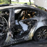 19.07.2019 Brand PKW A96 Bad Wörishofen Mindelheim BMW Totalschaden (3)