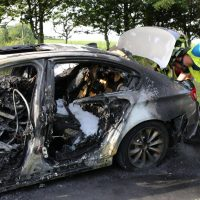 19.07.2019 Brand PKW A96 Bad Wörishofen Mindelheim BMW Totalschaden (4)