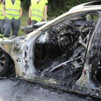 19.07.2019 Brand PKW A96 Bad Wörishofen Mindelheim BMW Totalschaden (5)