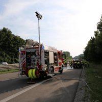 19.07.2019 Brand PKW A96 Bad Wörishofen Mindelheim BMW Totalschaden (6)