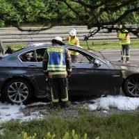 19.07.2019 Brand PKW A96 Bad Wörishofen Mindelheim BMW Totalschaden (7)