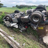 22.08.2019 Unfall schwer Wangen LKW A96 (2)