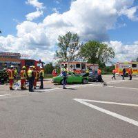 21.06.2020 Unfall B312 Frontal Feuerwehr Rettungsdienst (10)