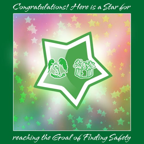 Star for Meeting Trauma Healing Goal #1 Finding Safety