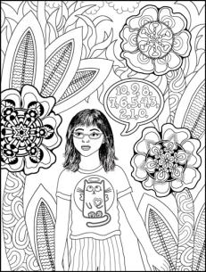 Count Backwards while Walking Grounding Activity Coloring Page