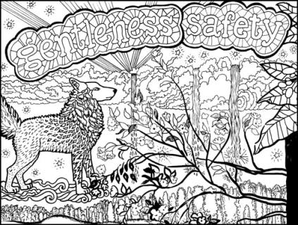 Finding Your Inner Wolf Coloring Page