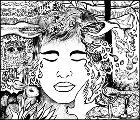 Opening up to Goodness and Allowing Emotions Coloring Page
