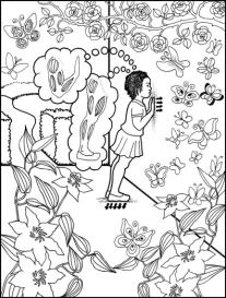 Push Against a Wall Grounding Activity Coloring Page