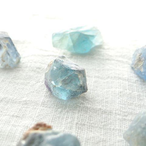 超光蓝萤石原矿 2 - 5 g(单颗) 1
