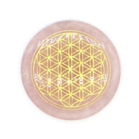 超光速粒子生命之花碟形水晶 3 cm - 粉晶(矿石脉轮珠) 1