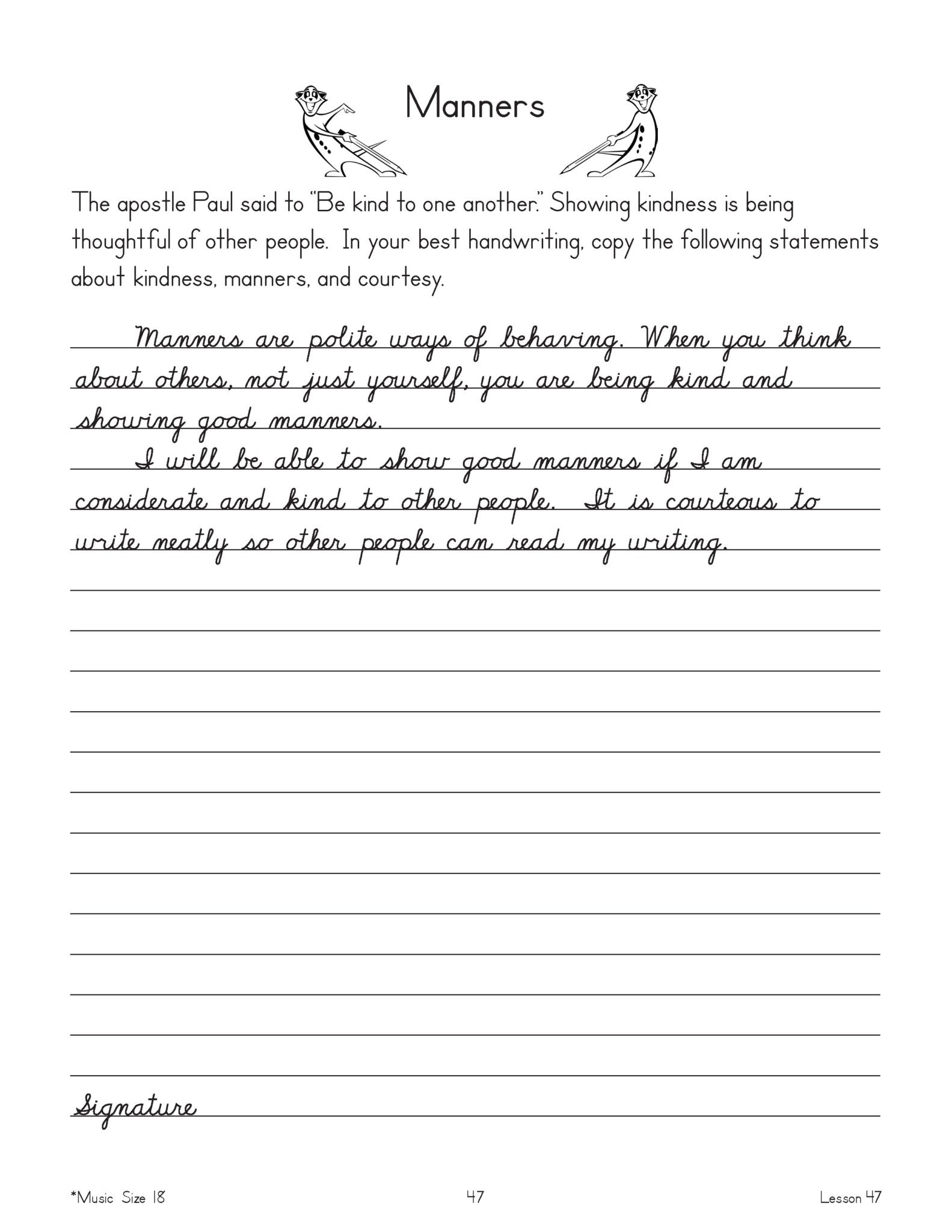 Advanced Cursive Workbook