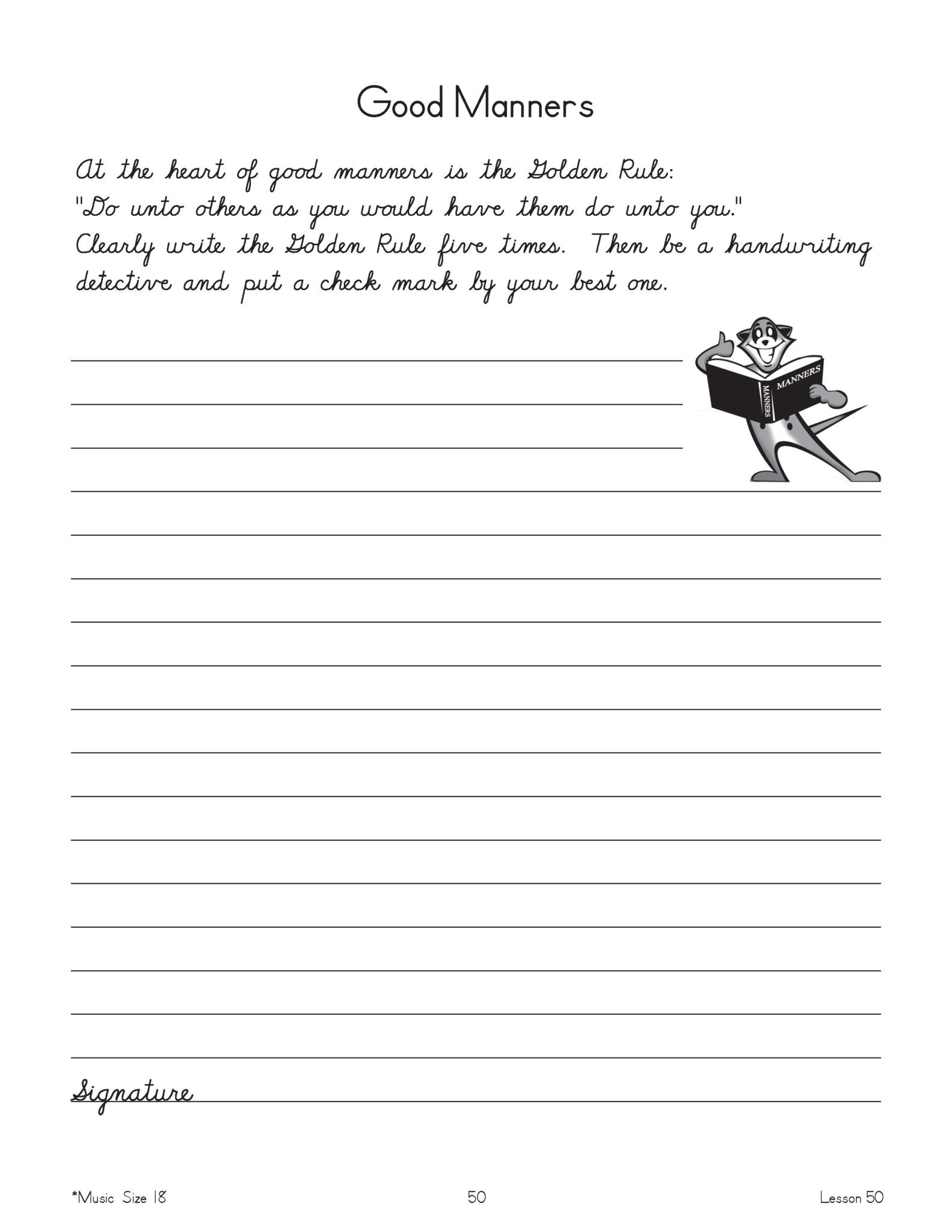 New American Cursive Workbook 3