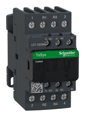 LC1D258G7  SCHNEIDER ELECTRIC  Contactor, DIN Rail, 600 VAC