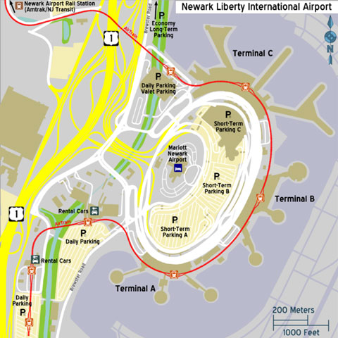 Newark International Airport Terminals