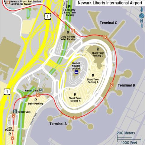 Philadelphia to newark airport best option