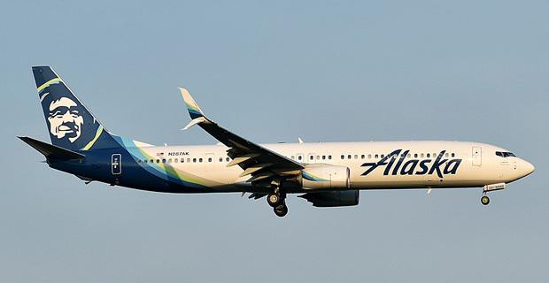 Alaska Airlines at Newark Airport