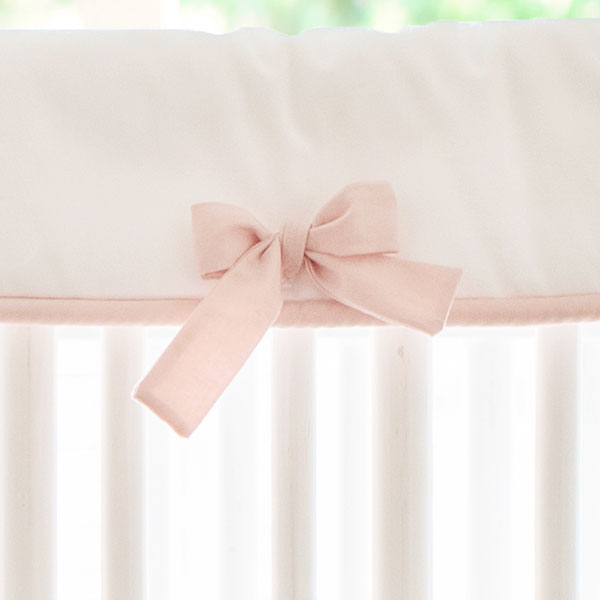 Pink and White Crib Rail Cover | New Arrivals, inc.