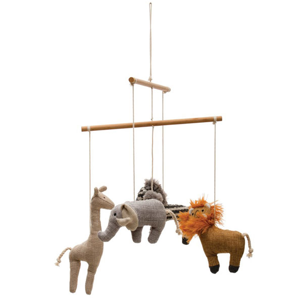 Safari Crib Mobile Wood and Fabric | New Arrivals, Inc.