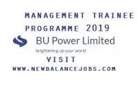 Management Trainee Programme 2019
