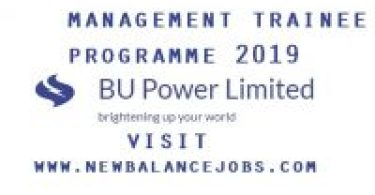 Management Trainee Programme 2019