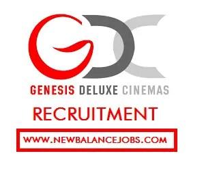Genesis deluxe cinemas recruitment