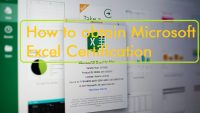 How to obtain Microsoft Excel Certification