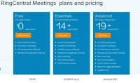Ringcentral meetings plans and pricing in 2020