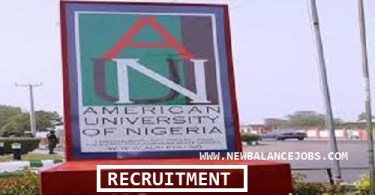American University of Nigeria Recruitment