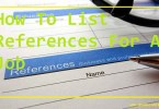 How To List References For A Job