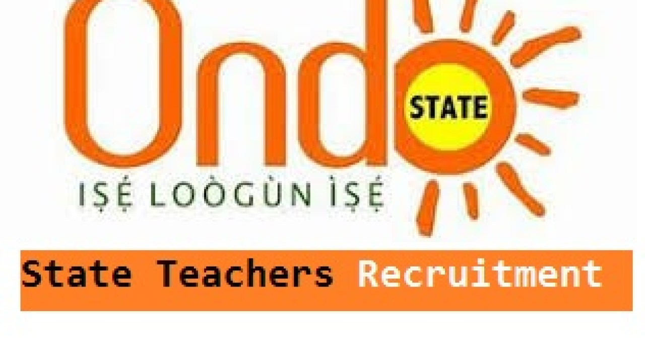 Ondo State Teachers Job Recruitment 2020/2021 – Application form