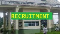 University of Agriculture and Environmental Sciences Recruitment