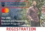 University of British Columbia Mastercard Foundation Scholars Program