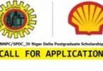 NNPC/SPDC_JV Niger Delta Postgraduate Scholarship