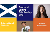International students are invited for Scotland's Saltire Scholarships for Postgraduate Students 2021.