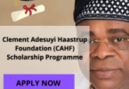 Clement Adesuyi Haastrup Foundation (CAHF) Scholarship Programme 2020 / 2021