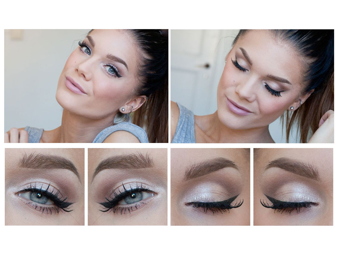 A Natural And Soft Winged Look