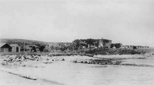 The Administration building and the beachhead along the leeward (southern) side of the island is shown in this photo taken around 1920. Photo courtesy of the Penikese School.