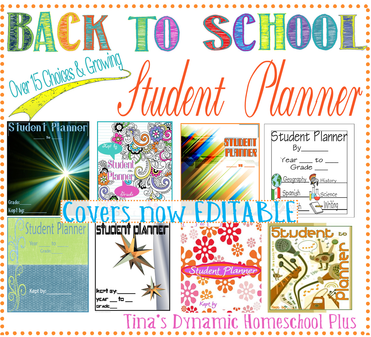 High School Student Planner With Subjects