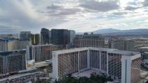 Aerial view of Las Vegas from the High Roller ferris wheel