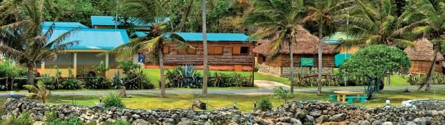 Village in Lifou Iles Loyauté in New Caledonia