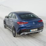 2021 Mercedes Benz Gle Coupe 400 D 4matic Coupe Color Brilliant Blue Metallic Rear Three Quarter Wallpapers 3 Newcarcars
