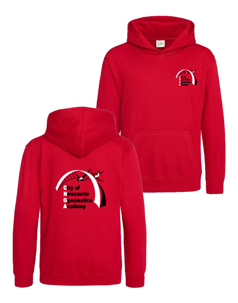 Newcastle Gymnastics Hoodie - Red