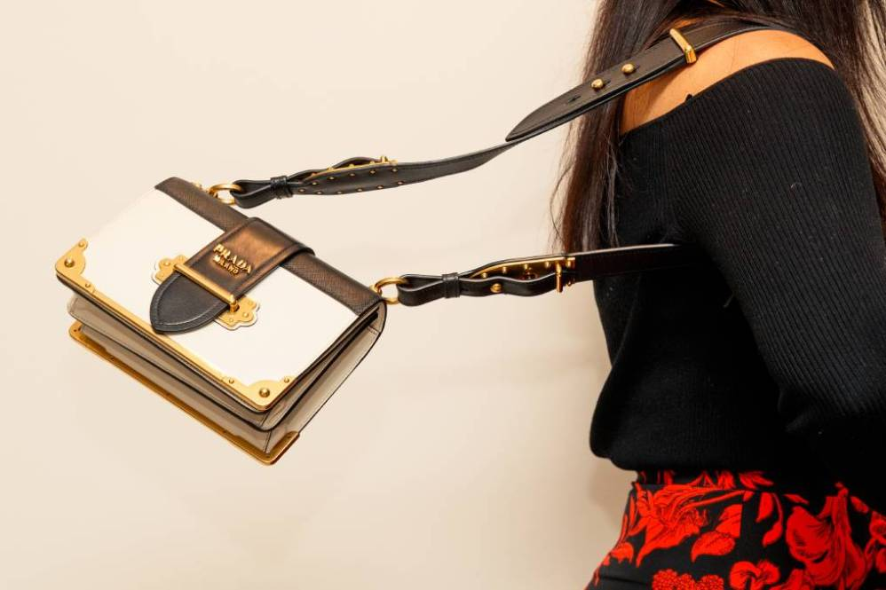 AIR OF LUXURY: One of the Prada bags offered by designer handbag hire service Spritz Lane. Pictures: Max Mason-Hubers