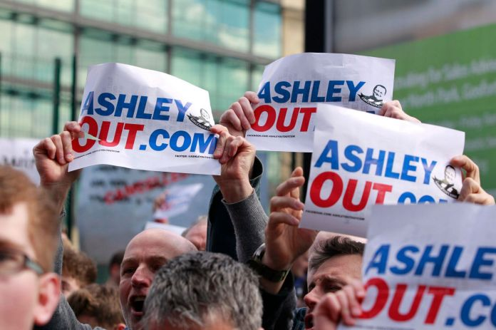 Mikey Ashley Out Protest - Newcastle United