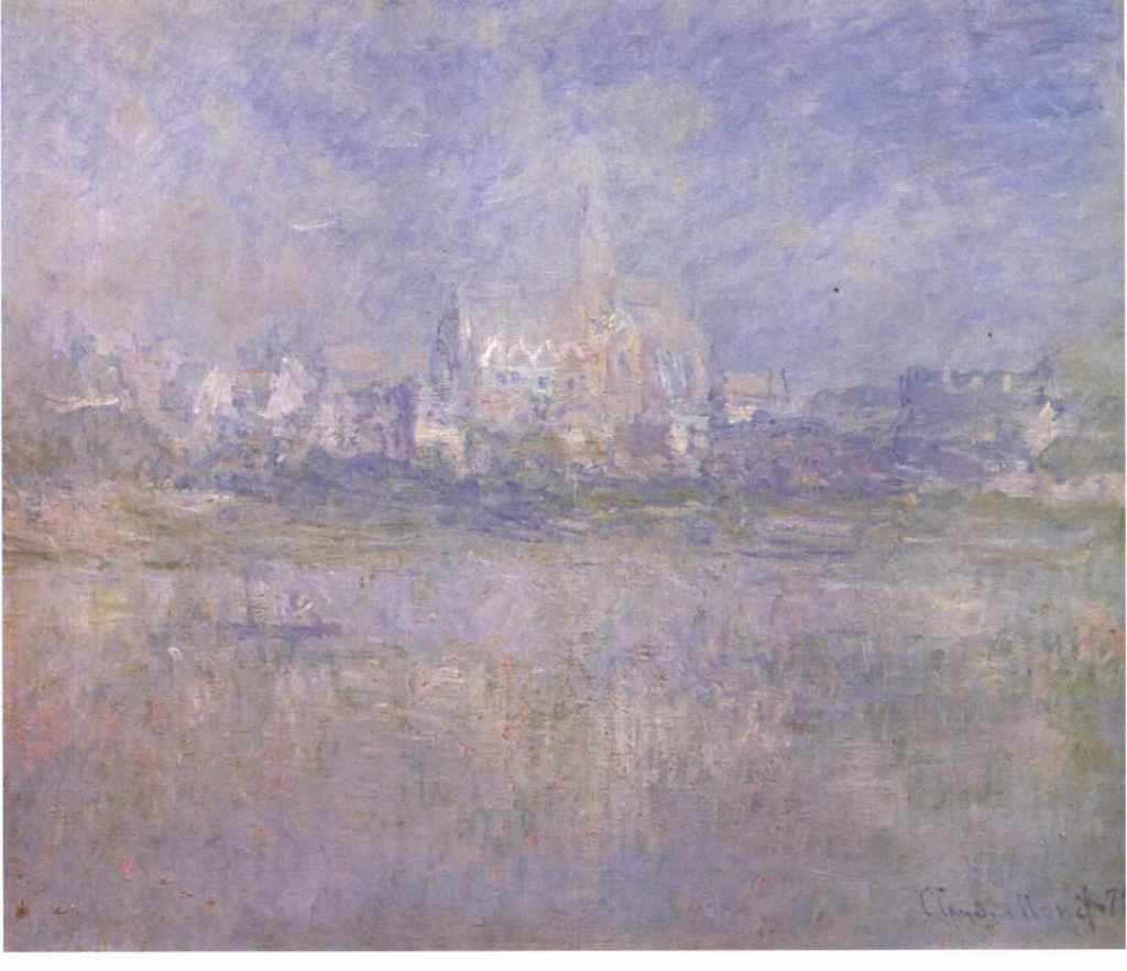 Claude Monet's Vetheuil in the fog