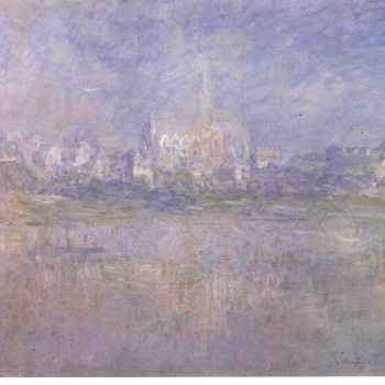 Claude Monet's Vetheuil in the fog