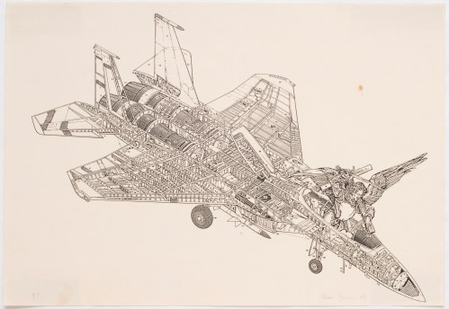 León Ferrari, untitled, Xerox series, 1986, photocopy of Airplane series, photocopy over paper, MASP Collection